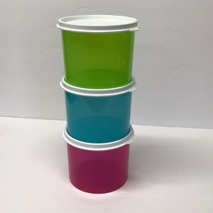 Tricolor Storage Containers, Set of 3